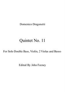 Quintet No.11 in E Minor: Full score by Domenico Dragonetti