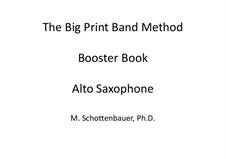 Booster Book: Alto saxophone by Michele Schottenbauer