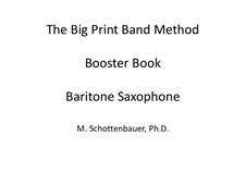 Booster Book: Baritone saxophone by Michele Schottenbauer