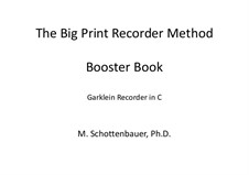 Booster Book: Garklein recorder by Michele Schottenbauer