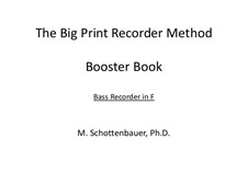 Booster Book: Bass recorder by Michele Schottenbauer