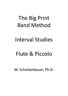 Interval Studies: Flute and flute piccolo by Michele Schottenbauer