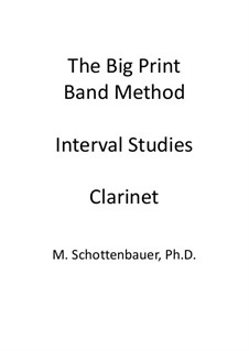Interval Studies: Clarinet by Michele Schottenbauer