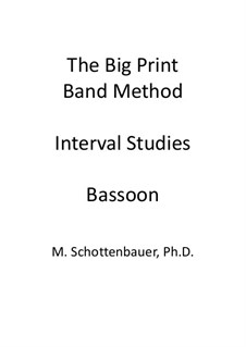 Interval Studies: Bassoon by Michele Schottenbauer
