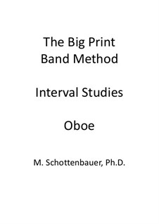 Interval Studies: Oboe by Michele Schottenbauer