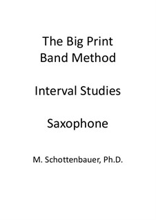 Interval Studies: Saxophone by Michele Schottenbauer