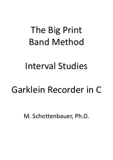Interval Studies: Garklein recorder by Michele Schottenbauer