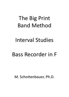 Interval Studies: Bass recorder by Michele Schottenbauer