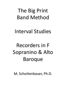Interval Studies: Recorders in F (sopranino and alto). Baroque fingering by Michele Schottenbauer