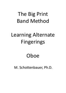 Learning Alternate Fingerings: Oboe by Michele Schottenbauer