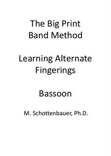 Learning Alternate Fingerings: Bassoon by Michele Schottenbauer