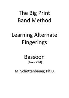 Learning Alternate Fingerings: Bassoon (tenor clef) by Michele Schottenbauer