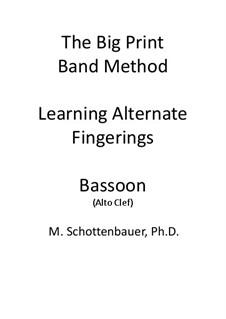 Learning Alternate Fingerings: Bassoon (alto clef) by Michele Schottenbauer