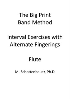 Interval Exercises with Alternate Fingerings: Flute by Michele Schottenbauer