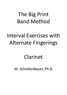 Interval Exercises with Alternate Fingerings: Clarinet by Michele Schottenbauer