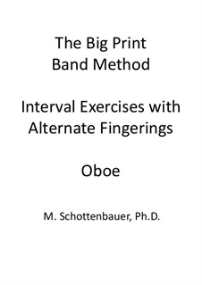 Interval Exercises with Alternate Fingerings: Oboe by Michele Schottenbauer