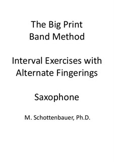 Interval Exercises with Alternate Fingerings: Saxophone by Michele Schottenbauer