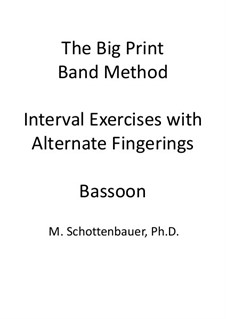 Interval Exercises with Alternate Fingerings: Bassoon by Michele Schottenbauer