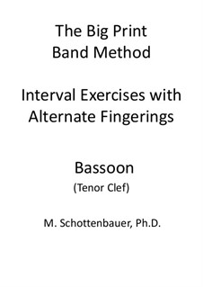 Interval Exercises with Alternate Fingerings: Bassoon (tenor clef) by Michele Schottenbauer