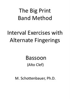 Interval Exercises with Alternate Fingerings: Bassoon (alto clef) by Michele Schottenbauer