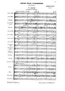 Petite Suite for Orchestra: Full score by Georges Bizet