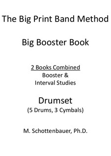 Booster Book: Drumset (5 drums, 3 cymbals) by Michele Schottenbauer