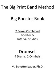 Booster Book: Drumset (4 drums, 2 cymbals) by Michele Schottenbauer