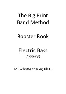 Booster Book: Electric bass by Michele Schottenbauer