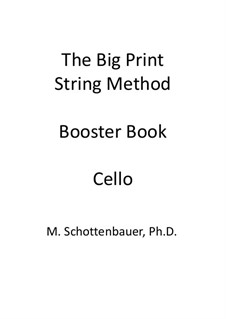 Booster Book: Cello by Michele Schottenbauer