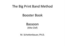 Booster Book: Bassoon (alto clef) by Michele Schottenbauer
