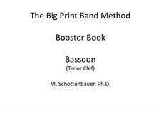Booster Book: Bassoon (tenor clef) by Michele Schottenbauer