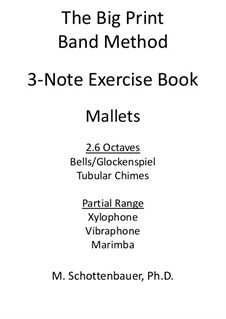 3-Note Exercise Book: Mallets by Michele Schottenbauer