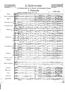 Suite II: Full score by Georges Bizet
