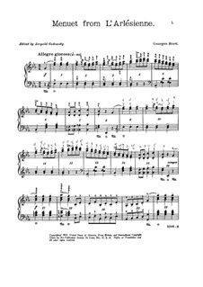 Suite I: Minuet, for piano by Georges Bizet