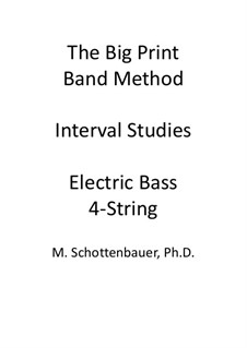 Interval Studies: Electric bass by Michele Schottenbauer