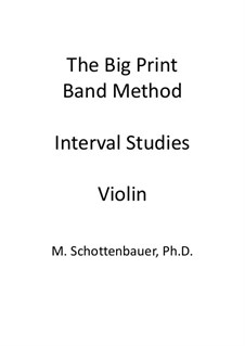 Interval Studies: Violin by Michele Schottenbauer