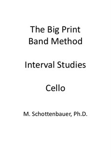 Interval Studies: Cello by Michele Schottenbauer
