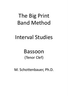 Interval Studies: Bassoon (tenor clef) by Michele Schottenbauer