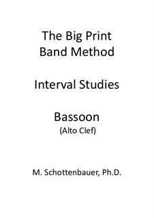 Interval Studies: Bassoon (alto clef) by Michele Schottenbauer