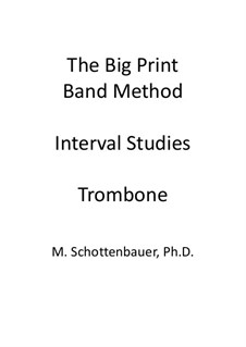 Interval Studies: Trombone by Michele Schottenbauer