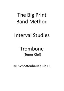 Interval Studies: Trombone (tenor clef) by Michele Schottenbauer