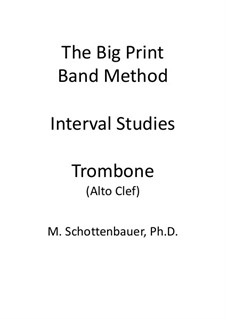 Interval Studies: Trombone (alto clef) by Michele Schottenbauer