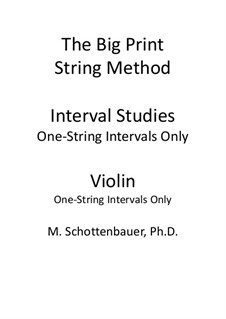 Interval Studies: One-String Intervals (violin) by Michele Schottenbauer
