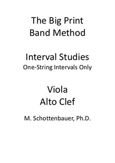 Interval Studies: One-String Intervals (viola) by Michele Schottenbauer