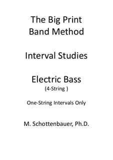 Interval Studies: One-String Intervals (electric bass) by Michele Schottenbauer