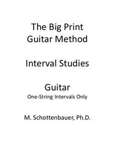 Interval Studies: One-String Intervals (guitar) by Michele Schottenbauer