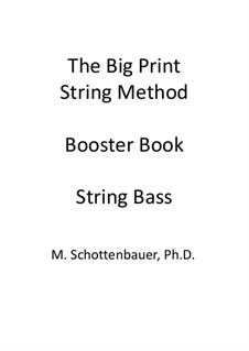 Booster Book: String bass by Michele Schottenbauer