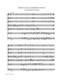 Serenata nella residenza estiva for ocarina septet: Serenata nella residenza estiva for ocarina septet by David W Solomons