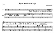 Rupert the chocolate angel (Ruprecht der Schoko-Engel): For voices, piano and percussion (with guitar chords) by David W Solomons