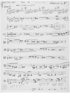 Trio for Clarinet, Viola and Piano: Parts by Ernst Levy